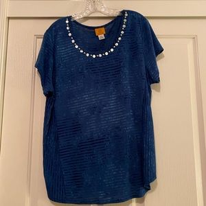Ruby Rd. Polyester/Spandex Blouse